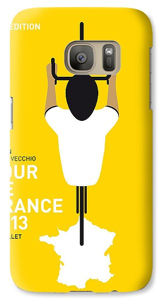 Bicycle Galaxy S7 Case - My Tour De France Minimal Poster by Chungkong Art