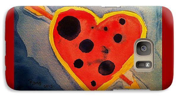 Galaxy Case featuring the painting Imperfect Love by Rand Swift