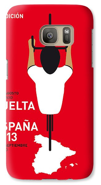 Bicycle Galaxy S7 Case - My Vuelta A Espana Minimal Poster - 2013 by Chungkong Art