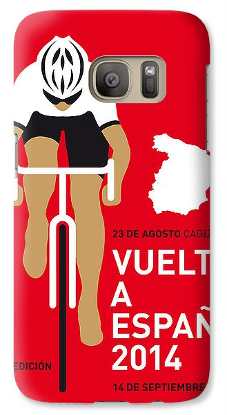 Bicycle Galaxy S7 Case - My Vuelta A Espana Minimal Poster 2014 by Chungkong Art