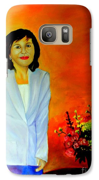 Galaxy Case featuring the painting My Wife by Jason Sentuf