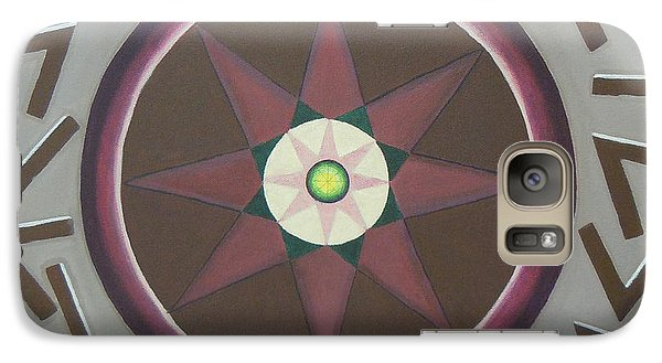 Galaxy Case featuring the painting My Yantra by Mini Arora