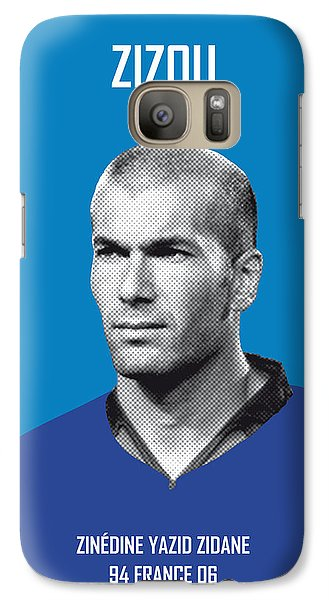 My Zidane Soccer Legend Poster Galaxy Case by Chungkong Art