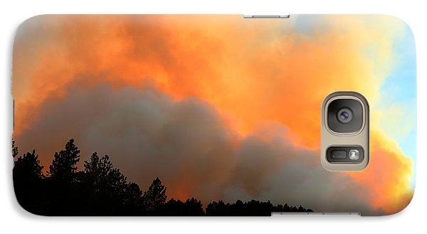 Galaxy Case featuring the photograph Myrtle Fire Near Rifle Pit Road by Bill Gabbert