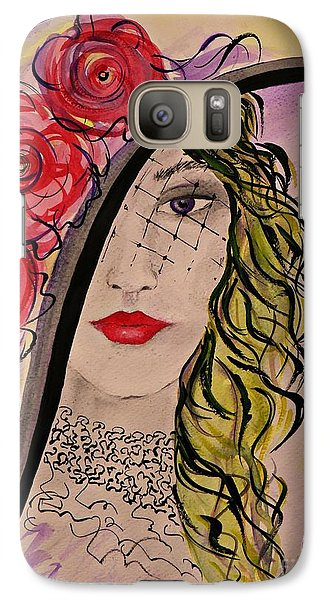 Galaxy Case featuring the painting Mysterious Lady by AmaS Art