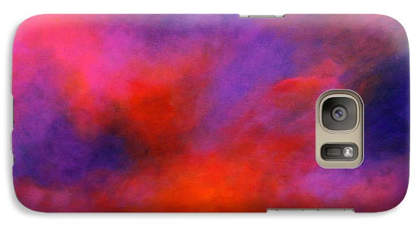 Galaxy Case featuring the painting Mysterious Sunrise by Alison Caltrider