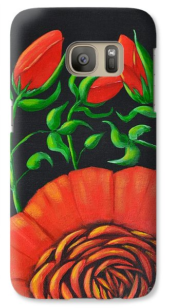 Galaxy Case featuring the painting Mystery Flower by Melvin Turner