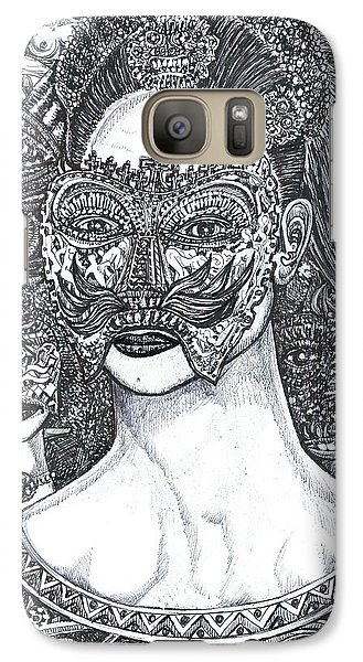 Galaxy Case featuring the mixed media Mystery Girl by Giovanni Caputo