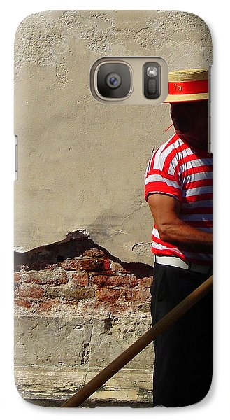 Galaxy Case featuring the photograph Mystery Gondolier by Ramona Johnston