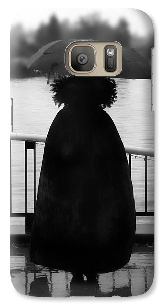 Galaxy Case featuring the photograph Lady At The Lake by Aaron Berg