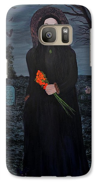 Galaxy Case featuring the painting Mystery by Myrna Walsh