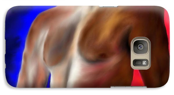 Galaxy Case featuring the painting Mystery Of A Man by Lori  Lovetere