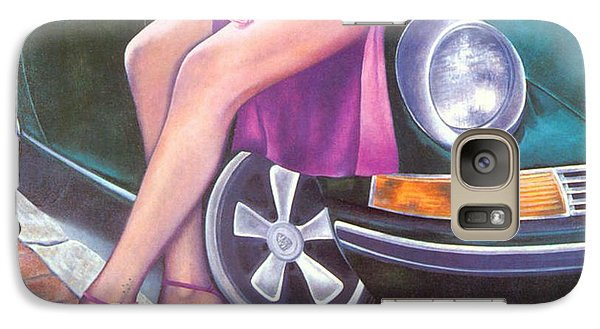 Galaxy Case featuring the painting Mystery On Peter Porsche by Mary Ann  Leitch