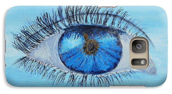 Galaxy Case featuring the painting Mystic Eye by Pamela  Meredith