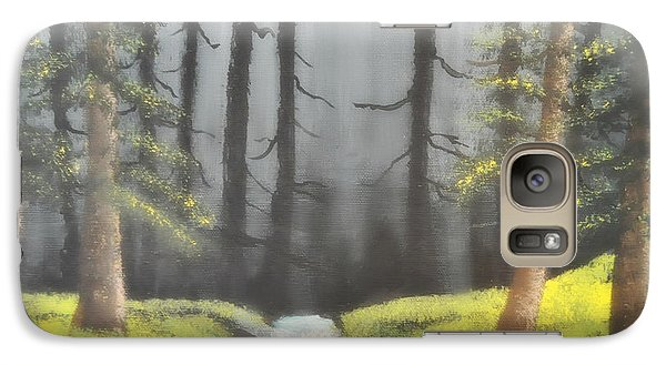 Galaxy Case featuring the painting Mystic Forest by Mindy Bench