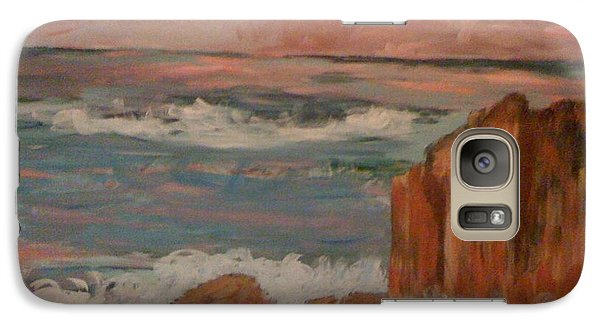 Galaxy Case featuring the painting Mystic Isle by Judi Goodwin