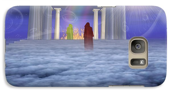Galaxy Case featuring the digital art Mystic Temple by Bruce Rolff