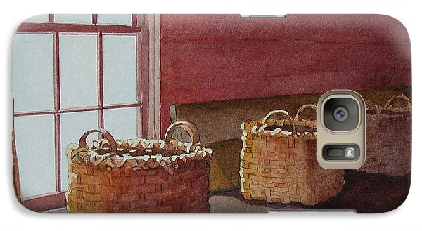 Galaxy Case featuring the painting Mystical Baskets by Judy Mercer