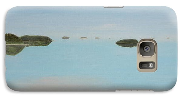 Galaxy Case featuring the painting Mystical Islands by Tim Mullaney