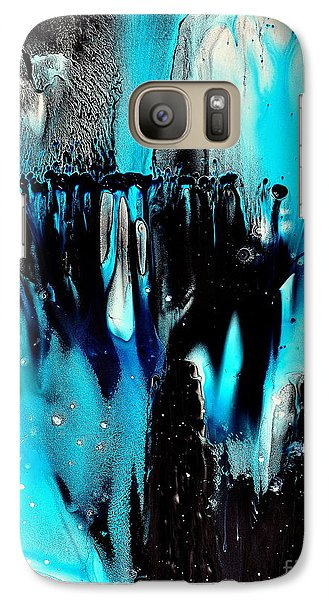 Galaxy Case featuring the painting Mystics by Christine Ricker Brandt