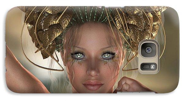 Galaxy Case featuring the digital art Mythos by Sandra Bauser Digital Art