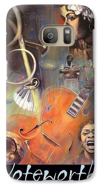 Galaxy Case featuring the pastel N O T E W O R T H Y by Brooks Garten Hauschild