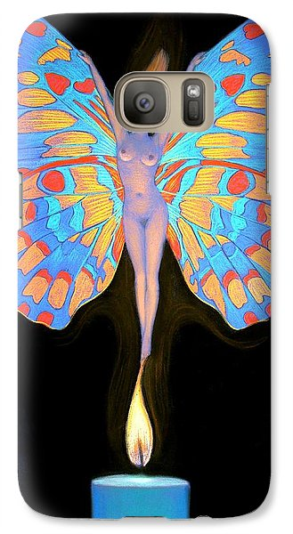 Galaxy Case featuring the painting Naked Butterfly Lady Transformation by Sue Halstenberg