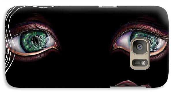 Galaxy Case featuring the digital art Namaste by Yolanda Raker