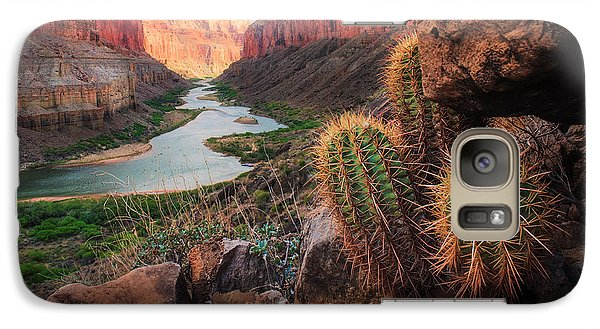 Landscapes Galaxy S7 Case - Nankoweap Cactus by Inge Johnsson