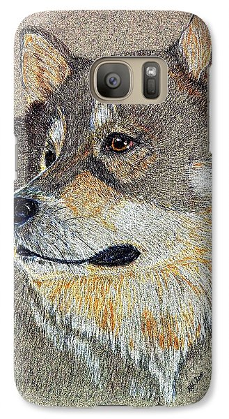 Galaxy Case featuring the drawing Nanook by Stephanie Grant