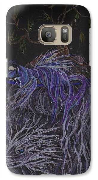 Galaxy Case featuring the drawing Nap by Dawn Fairies