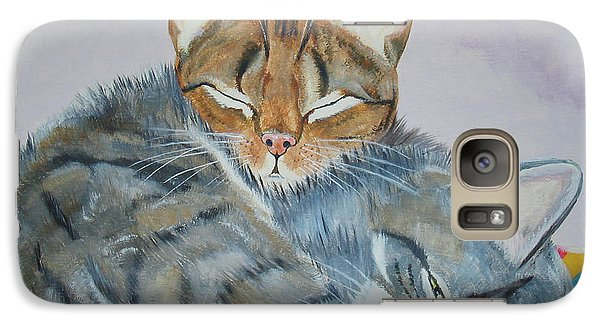 Galaxy Case featuring the painting Nap Time by Thomas J Herring
