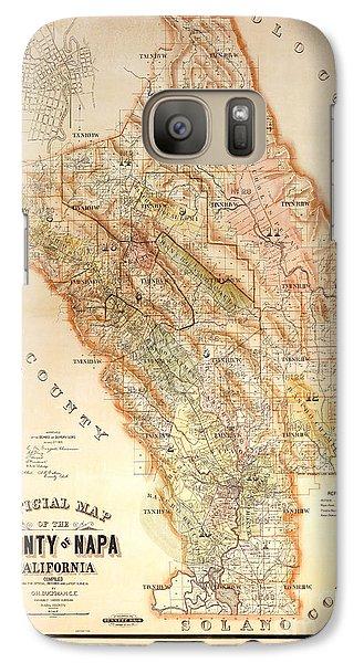 Napa Valley Map 1895 Galaxy S7 Case