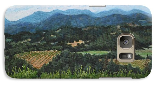 Galaxy Case featuring the painting Napa Valley Vineyard by Penny Birch-Williams