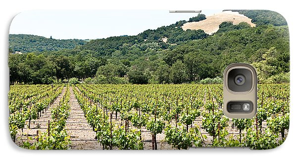 Galaxy Case featuring the photograph Napa Vineyard With Hills by Shane Kelly