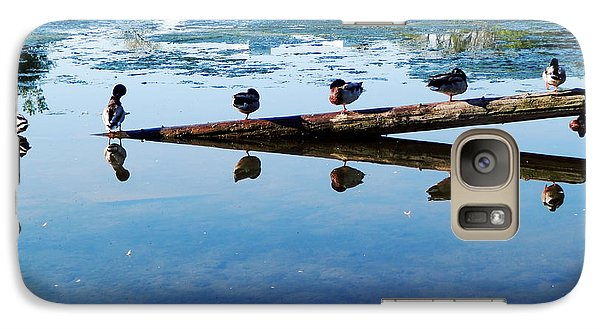 Galaxy Case featuring the photograph Napping Ducks by Zinvolle Art