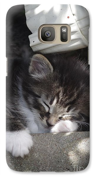 Galaxy Case featuring the photograph Naptime Kitty by Tannis  Baldwin