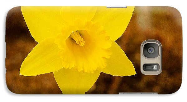 Galaxy Case featuring the photograph Narcissus At Attention by MaryJane Armstrong