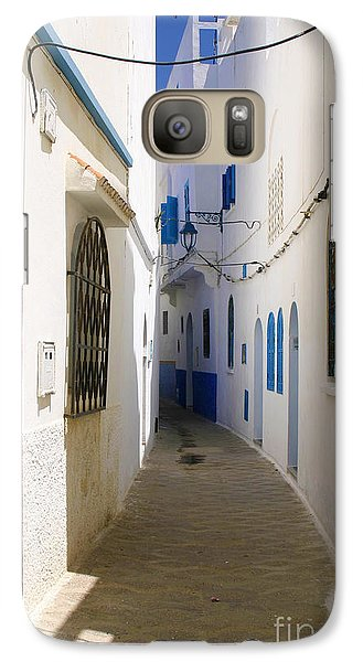 Galaxy Case featuring the photograph Narrow Backstreet In The Medina Of Asilah On Northwest Tip Of Atlantic Coast Of Morocco by Ralph A  Ledergerber-Photography