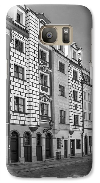 Galaxy Case featuring the photograph Narrow Houses by Arkady Kunysz