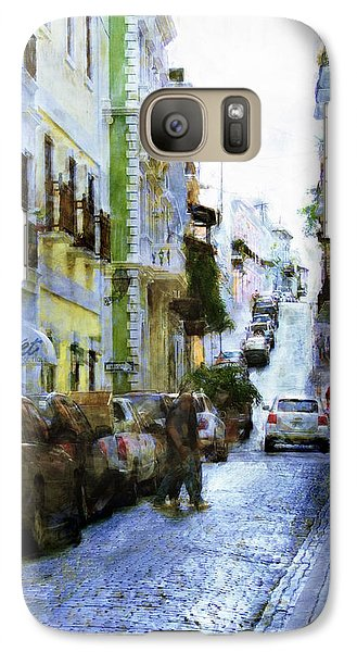 Galaxy Case featuring the photograph Narrow Streets by John Rivera