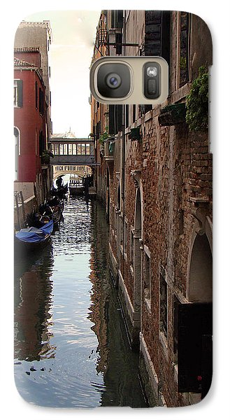Galaxy Case featuring the photograph Venice Narrow Waterway by Walter Fahmy