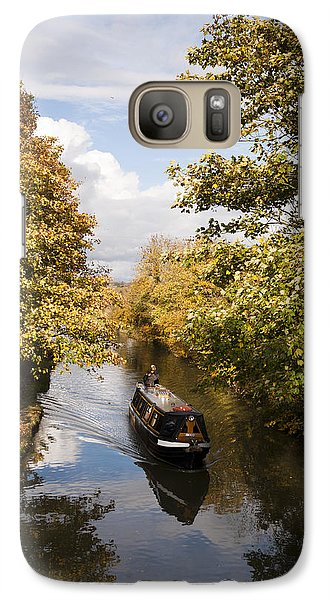 Galaxy Case featuring the photograph Narrowboat On The Grand Union by David Isaacson