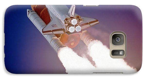 Galaxy Case featuring the photograph Nasa Atlantis Launch 3 by Rod Jones
