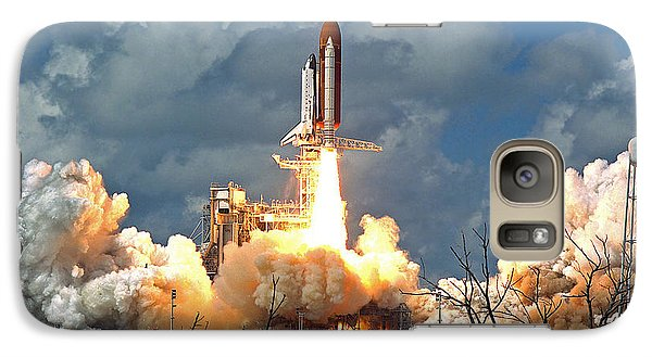 Galaxy Case featuring the photograph Nasa Discovery Launch by Rod Jones