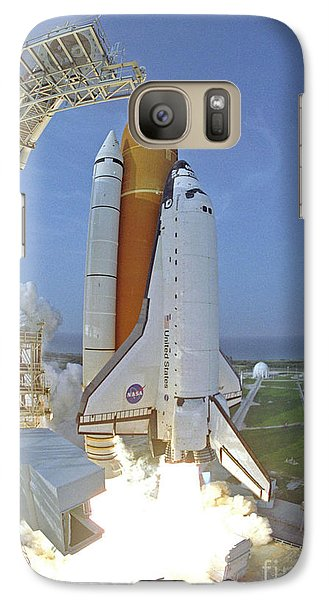 Galaxy Case featuring the photograph Nasa Endeavor Launch by Rod Jones