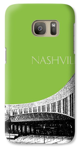 Nashville Skyline Country Music Hall Of Fame - Olive Galaxy S7 Case