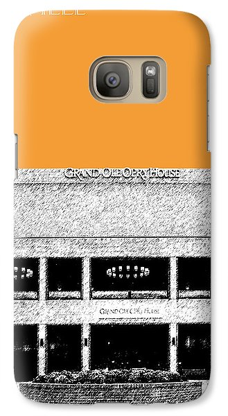 Nashville Skyline Grand Ole Opry - Orange Galaxy S7 Case