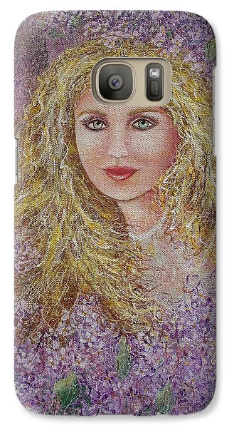 Galaxy Case featuring the painting Natalie In Lilacs by Natalie Holland