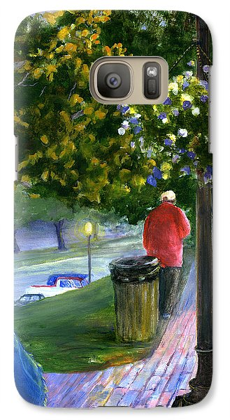 Galaxy Case featuring the painting Natchitoches Front Street Cane River by Lenora  De Lude